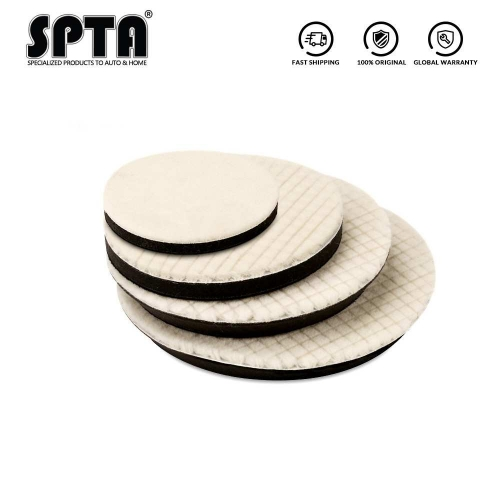SPTA 5/6/7inch Lambs Woolen Polishing Pad For Car Polisher Detail Mirror Finish Polishing