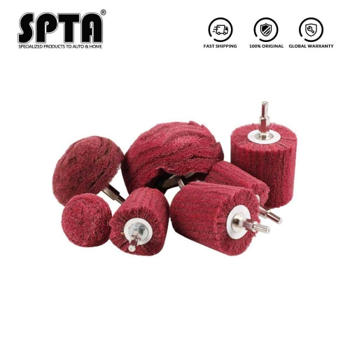 SPTA Sanding Polishing Mop Kit Buffing Wheel Conical And cylindrical And mushroom Compound