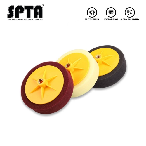 SPTA 5inch (125mm)/ 6inches (150mm) automotive paint polishing pad waxing pad sponge polishing pad for car polisher