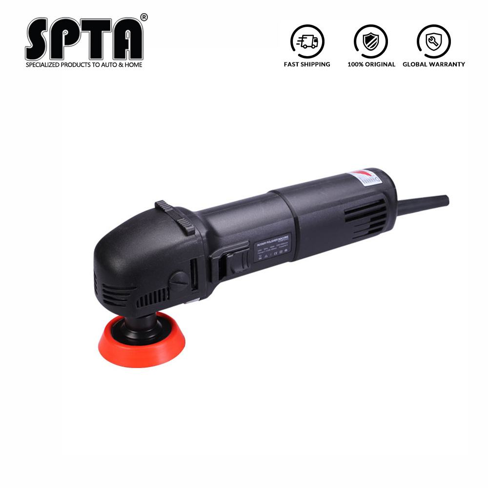 SPTA 780W Mini Polishing Machine Ro Roary Polisher Car Polisher With 27Pcs Polishing Pads + 75mm/100mm/140mm Extension Shaft Set