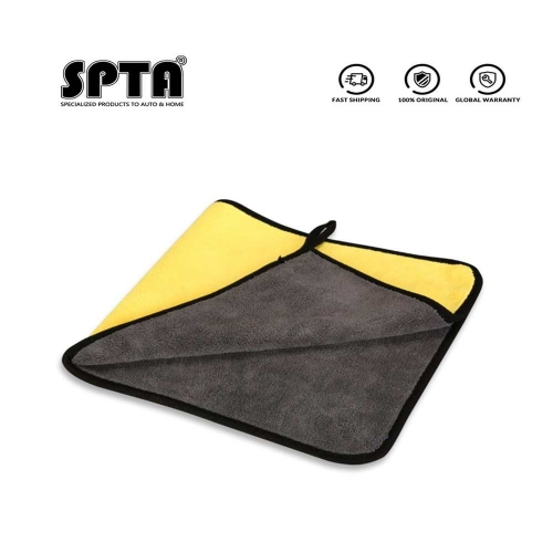 SPTA Double Color Car Towel Microfiber Washing Drying Towel Thick Plush Polyester Fiber Cleaning Cloth Coral Fleece Car Washing Towel