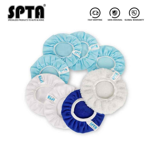 SPTA Car Polisher Bonnet, Waxers Bonnet Set, Max Waxer Bonnet Polishing Pad for Most Car Polishers For Car Polisher