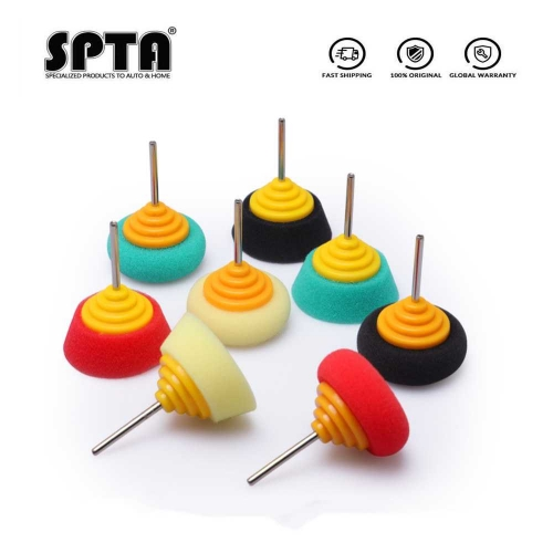 SPTA Mini Polishing Sponge 2 Inch Buffing Wheel for Car Hub Steel Rim Burnishing 4Pcs Pack Automobile Detailing Polishing Foam