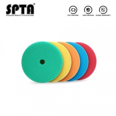 SPTA 5 inch (125mm) Backing Polishing Pads, Grid Beveled Buffing Pads for RO and DA Polisher