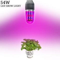 54W 360°degree LED Corn Grow Light for Aquarium Greenhouse Hydroponics Indoor Vegetable Flower Seeding,54PCs 5730 Chips E27 Base grow light