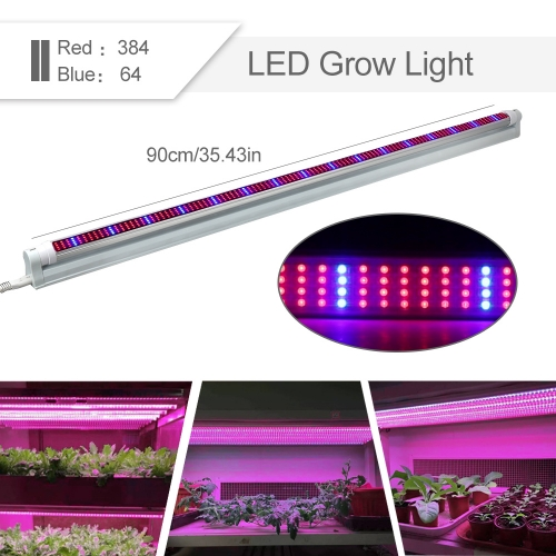 [Pack of 5] 45W T8 LED Grow Light Tube,450PCs Chips ,for Indoor Plants Garden