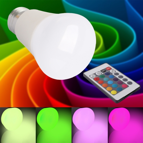 5W RGB LED Light Bulb With Timing Infrared Remote Control ,12Color Choices,Perfect for Birthday Party / KTV Decoration / Home Use / Bar