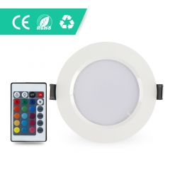 5W RGB Round LED Panel Lighting suit for Living Room Kitchen Bathroom