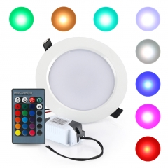 10W RGB Round LED Panel Lighting suit for Living Room Kitchen Bathroom