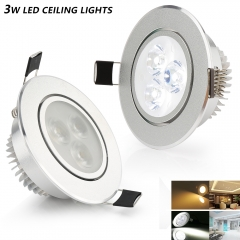 Best Sales Dimmable Recessed 3W High Power LED Ceiling Light Fit for Indoor
