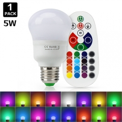 5W RGB LED Globe Bulb With Remote Control,Color Changing ,Perfect for Birthday Party / KTV Decoration / Home Use / Bar