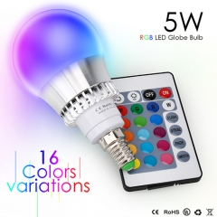 5W E14 RGB LED Light Bulb With Timing Infrared Remote Control ,16Color Choices,Perfect for Birthday Party / KTV Decoration / Home Use / Bar