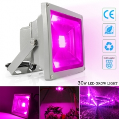 30W Waterproof LED Plant Grow Flood Light,30PCsIntegrated LED Chips,Fit for Greenhouse Hydroponic Garden Plan