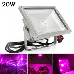 20W Waterproof LED Plant Grow Flood Light,20PCs Integrated LED Chips,Fit for Greenhouse Hydroponic Garden Plan