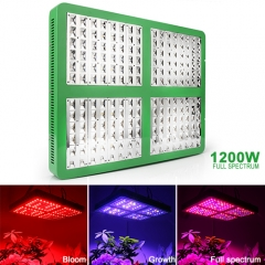 1200W  Full Spectrum LED Grow Lights,192pcs with Reflector 120°Chips for Greenhouse Hydroponic Indoor Plants Veg and Flower