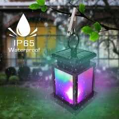 Waterproof RGB LED Solar Lantern Best for Beach Umbrella Tree Pavilion Gard