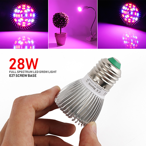 (Pack of 4)28W Full Spectrum Led Grow Light for Indoor Plants Vegetables Greenhouse