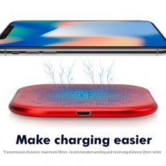 Fast Wireless Charger for All Phones With Wireless Charge Fuctions Such as iPhone X, iPhone 8 / 8 Plus , with Quick Charge Adapter Included