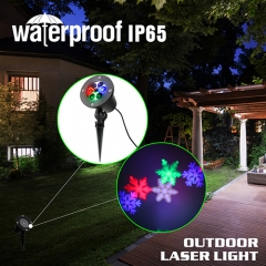 Snowflake Christmas Laser Lights Landscape Projector Lights Waterproof Best for Outdoor and Indoor
