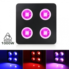 1000W COB Full Spectrum LED Grow Lights for Greenhouse Hydroponic Indoor Plants Veg and Flower