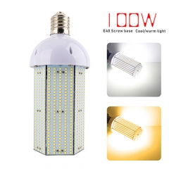 Super Bright 100W LED Corn Light Bulb, E40 Large Base for Indoor Outdoor, Street and Large Area Lighting