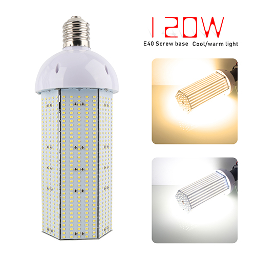 Super Bright 120W LED Corn Light Bulb, E40 Large Base for Indoor Outdoor, Street and Large Area Lighting