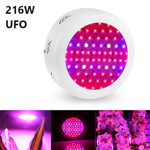 216W Full Spectrum UFO Led Grow Lights, 72PCs Chips Fit for Indoor Plants, Vegetable,Flowers,Seedlings Growing