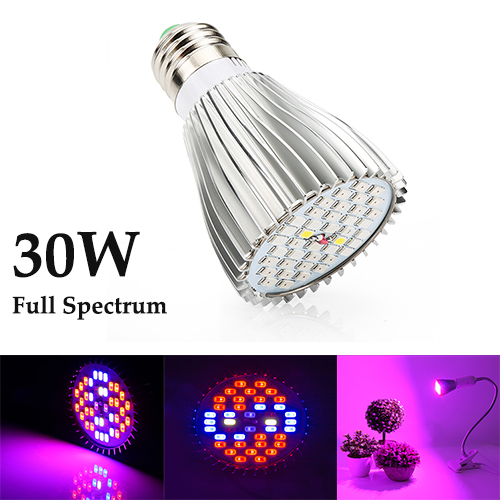 30W  Full Spectrum Led Grow Light for Indoor Plants Vegetables Greenhouse and Hydroponic,40PCs SMD5730 Chips grow light
