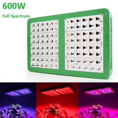 600W Full Spectrum LED Grow Lights,96pcs with reflector 120°Chips fit for Greenhouse Hydroponic Indoor Plants Veg and Flower