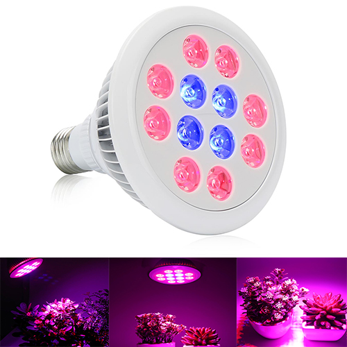 24W/36W LED Grow Light ,12PCs(8Red+4Blue) Chips, grow light fit  for Indoor Plants Vegetables Greenhouse and Hydroponic