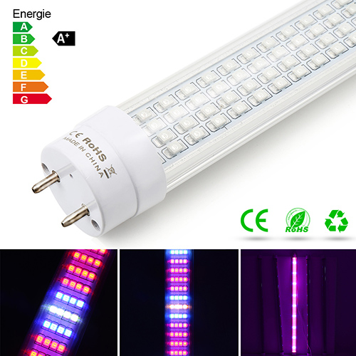[Pack of 5] 60W T8 LED Grow Light Tube,600pcs Chips ,for Indoor Plants Garden Greenhouse