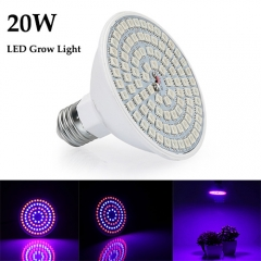 20W Led Grow Light for Indoor Plants Vegetables Greenhouse and Hydroponic,90PCs SMD 5050 Chips E27 Base grow light