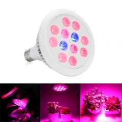24W/36W LED Grow Light ,12PCs(10Red+2Blue) Chips, grow light fit  for Indoor Plants Vegetables Greenhouse and Hydroponic
