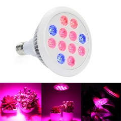 24W/36W  Led Grow Light for Indoor Plants Vegetables Greenhouse ,12PCs Chips led grow light