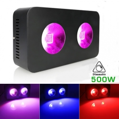 500W COB Full Spectrum LED Grow Lights for Greenhouse Hydroponic Indoor Plants Veg and Flower