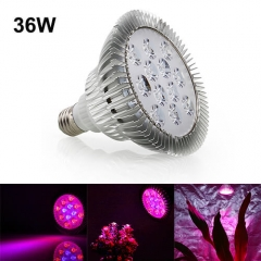 36W  Led Grow Light for Indoor Plants Vegetables Greenhouse and Hydroponic,12PCs Chips E27 Base grow light