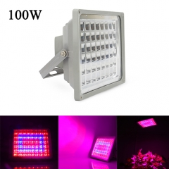 100W Waterproof LED Plant Grow Flood Light,48PCs Integrated LED Chips , for Greenhouse Hydroponic Garden Plant