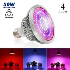 50W Four Modes Full Spectrum LED Growing Lights  Best for Marijuana,Greenhouse and Indoor Plants