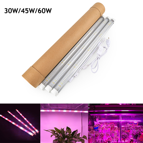 (3 Pack)  30W/45W/60W T8 LED Grow Light Tube Full Spectrum Best for Greenhouse ,Hydroponic and Indoor Plants