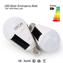 7W/12W Waterproof IP65 Solar Light LED Portable Emergency Light Bulb Rechargeable Emergency Lamp for Outdoor and Indoor
