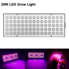 25W Full Spectrum LED Grow Panel Light Best For Indoor Plants,Greenhouse And Weed