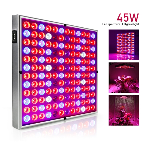 45W Led grow light, 144PCs Integrated LED Chips , Full Spectrum IR UV Veg Flower Indoor Plant
