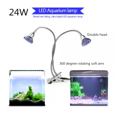 24W Clip LED Aquarium Lamp Fish Tank Lamp suitable for aquatic plant growth, enhance ornamentality