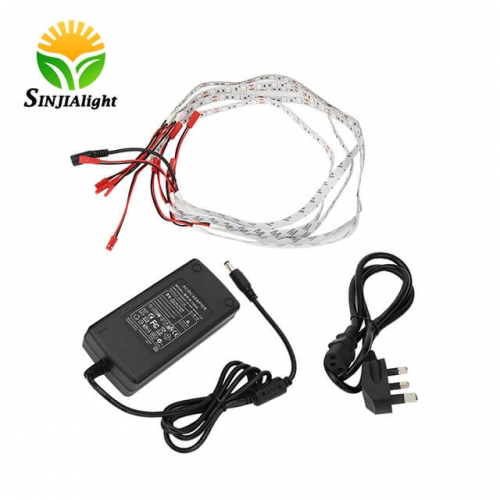 [Pack of 5] 5W 0.5M 12V Led Strip Lights with 5A power adapter  - SINJIAlight