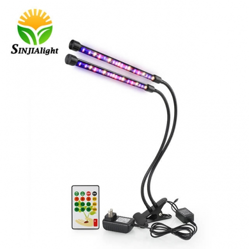 24W 72leds Full spectrum Dual Heads LED Grow Clip Light  - SINJIAlight