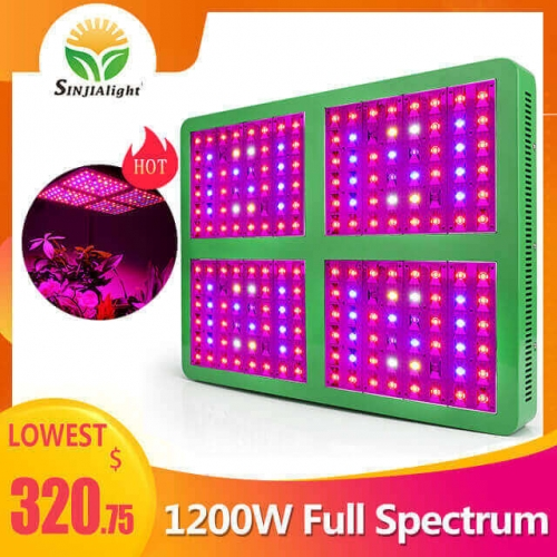 1200W 192leds Growth/Bloom/Full Spectrum Grow Light - SINJIAlight