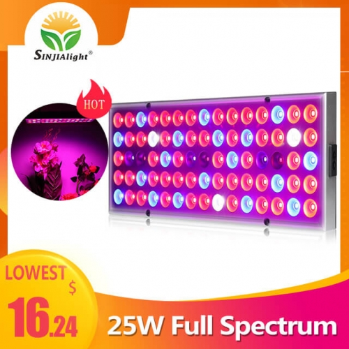 25W 75leds Full Spectrum Reflector Grow Light - SINJIAlight