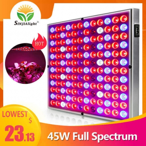 45W 144leds Full Spectrum Reflector Grow Light - SINJIAlight
