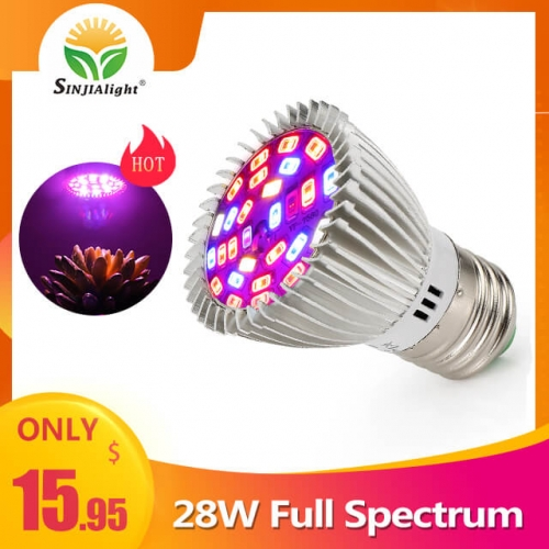 [Pack of 4]28W 28leds Full spectrum Indoor Grow Light - SINJIAlight