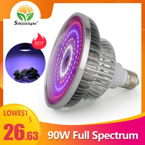 90W 129leds Full Spectrum Dimmable Grow Light - SINJIAlight